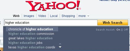 yahoo search assist Links of the Week August 29th, 2008