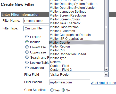filter country 7 Google Analytics Filters To Help Understand Your Visitors