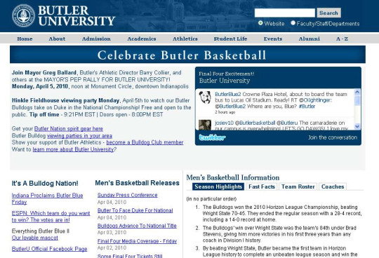 butler university basketball So What if Butler Lost Monday Night!  A BIGGER Lost Marketing Opportunity Occured!