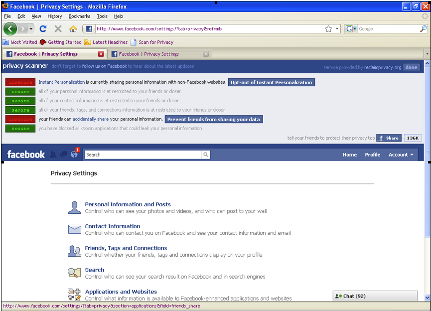 Picture 1 Facebook Privacy and Admissions Counselors: Know Your Settings