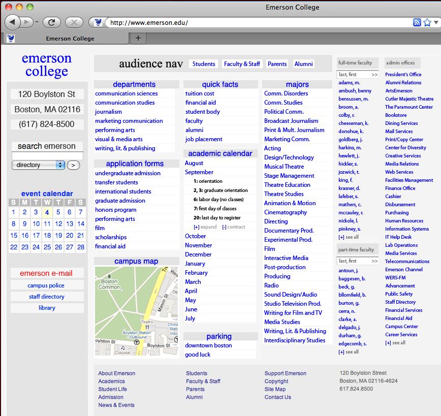 xkcd emerson Redesign Your University Website According to xkcd