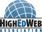 HighEdWeb logo #heweb10 Conference Welcome & orientation